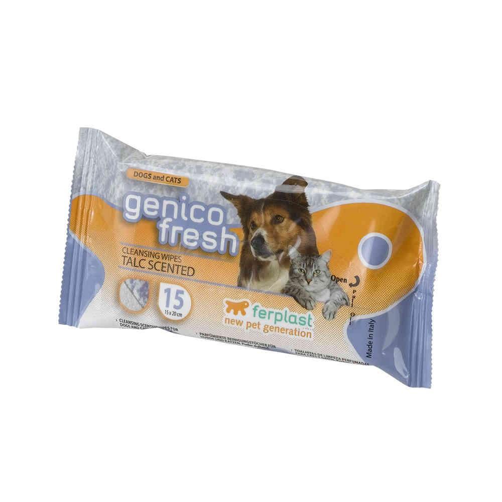 Salviette GENICO FRESH DOG TALCO x 15 per cani