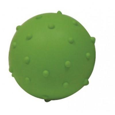 Pallina gomma JINGLE squeak Verde. suona, 5 cm per cani