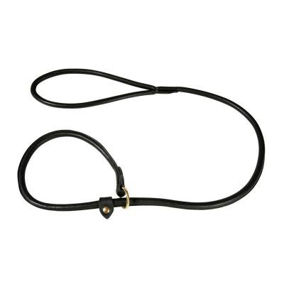 Guinzaglio cuoio da Retriever con collare-10 mmx120 cm-Nero per cani