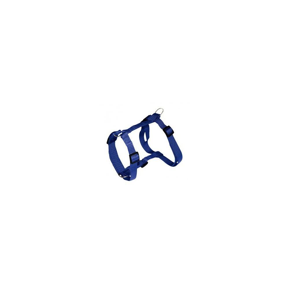 Pettorina Nylon ad H regolabile. BLU da 30 a 50 cm per cani