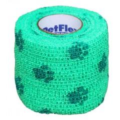 Bendaggio elastico verde disegno zampe per cani