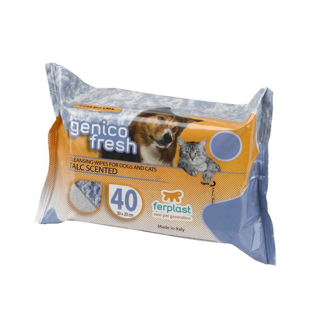 Salviette igieniche GENICO FRESH DOG TALCO 40 per cani
