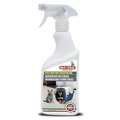 Detergente sgrassatore per trasportini e gabbie. 500 ML per cani