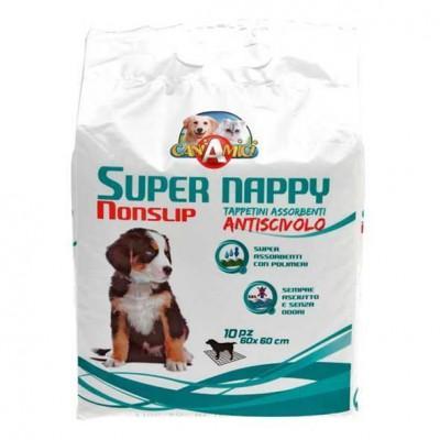Teli igienici assorbent1 Super Nappy 90 X 60 10 pz per cani