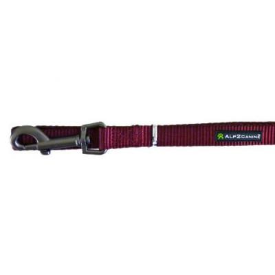 Guinzaglio nylon A2C Comfort 120 CM X 18 MM Rosso per cani