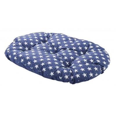 Materasso cuscino realizzato in cotone Blu per cani