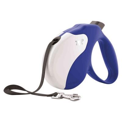Guinzaglio Estensibile TECH AMIGO Blu-Bianco per cani