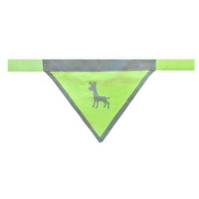Bandana catarifrangente Gialla per cani