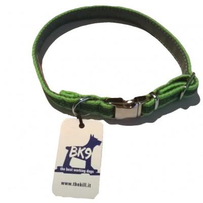 Collare Gommato nylon VERDE per cani