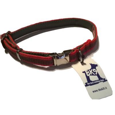 Collare Gommato nylon ROSSO per cani