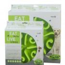 Ciotola plastica Rallenta pasti Eat Slow Live. Verde per cani