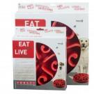Ciotola plastica Rallenta pasti Eat Slow Rossa per cani