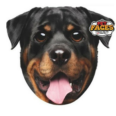 Pet Faces muso Rottweiler Cuscino