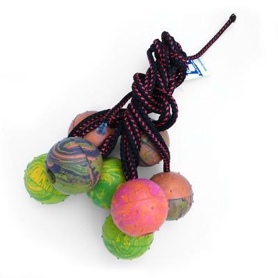Pallina Corda Doppia gomma colori assortiti per cani
