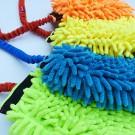 Tug in microfibra per cuccioli con maniglia Bungee elasticizzata per cani