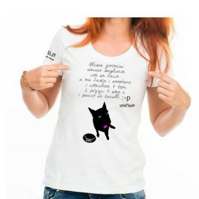 T-shirt #caniaddestraumani - A me basta... Maglietta sallystyle gadget cani