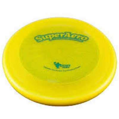 Frisbee Disc Dog Super Aero Starlite Giallo