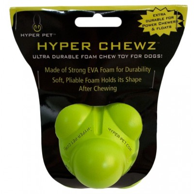Pallina gomma Hyper Chewz Bumpy. Verde per cani