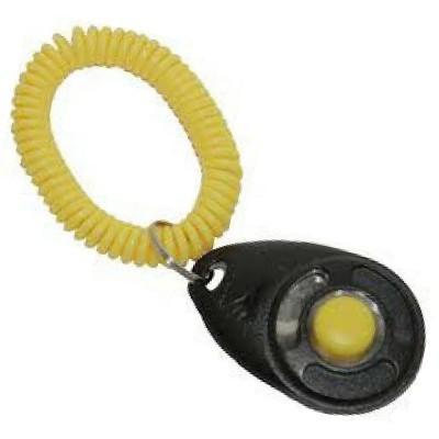 Clicker con braccialetto elastico per cani