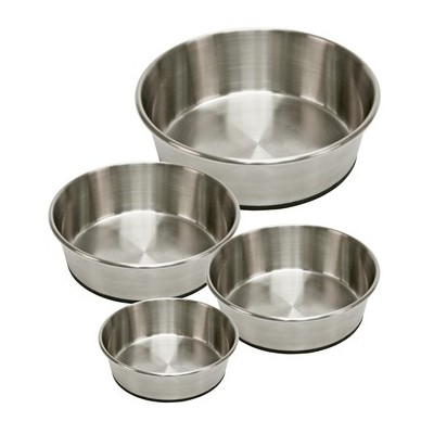Ciotola acciaio base antiscivolo 425 ml per cani
