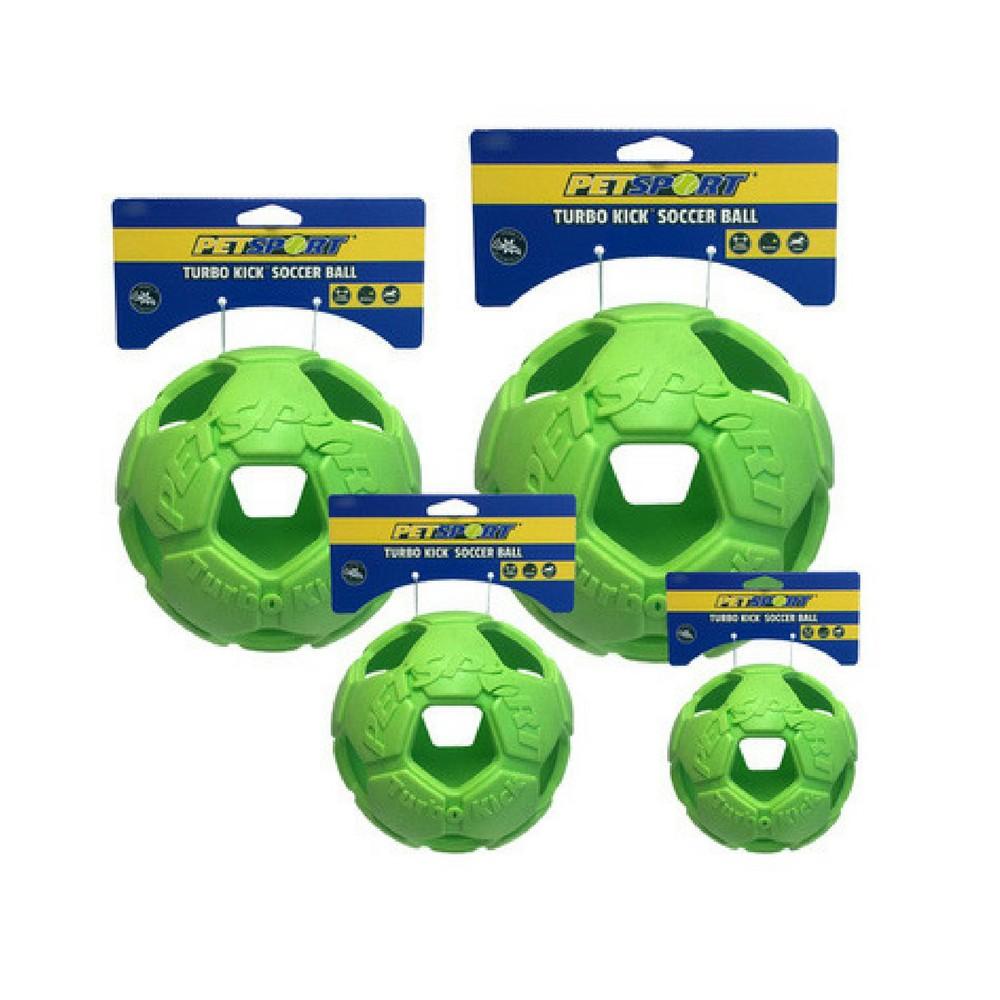 Pallina da calcio. Pallina retata Verde.  per cani