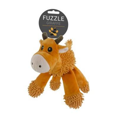 Peluche morbido giraffa con 5 squeaker per cani