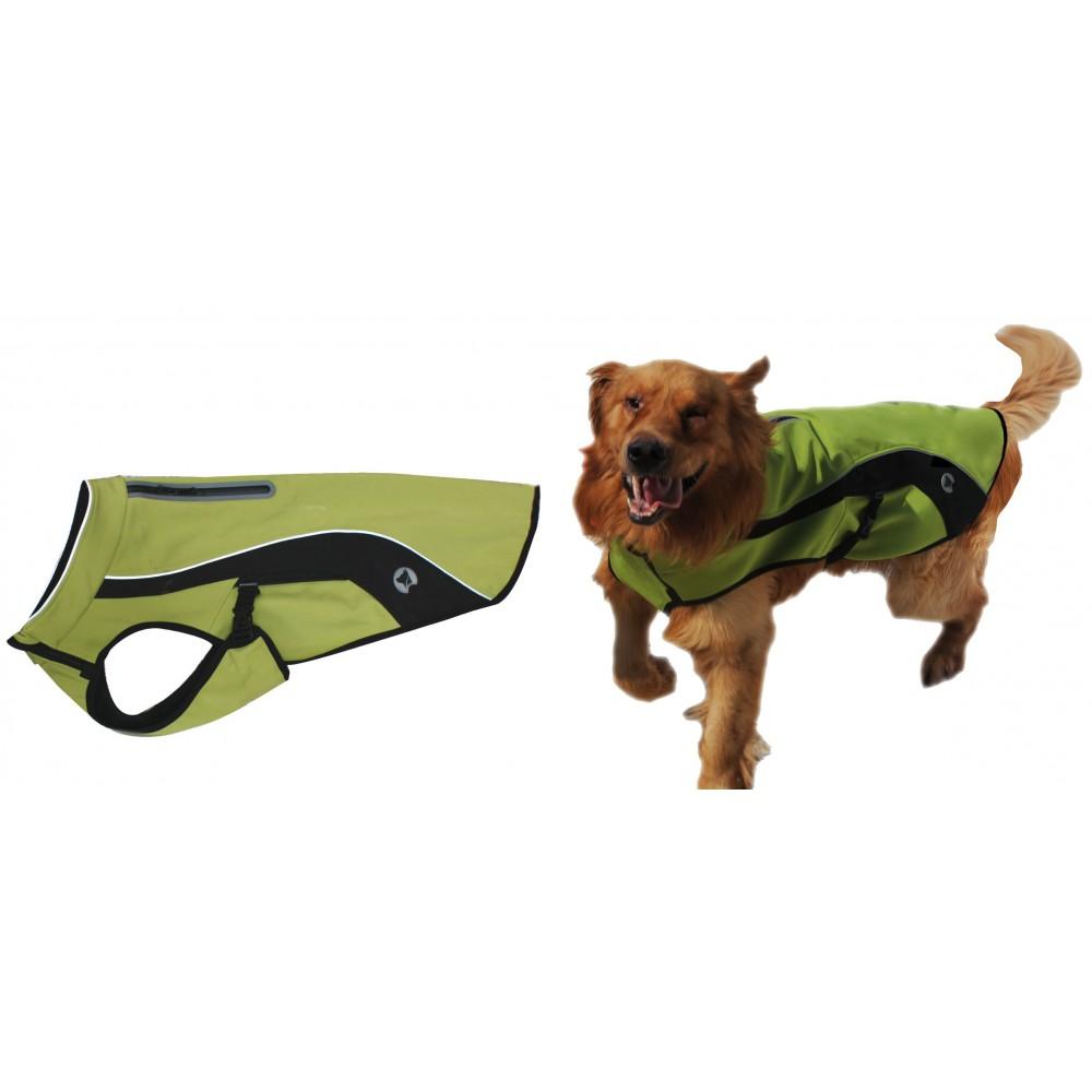 Impermeabile traspirante HIKING Verde per cani
