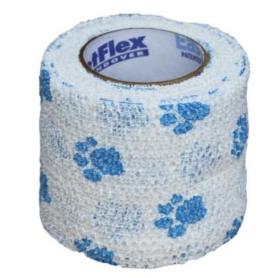 Bendaggio elastico bianco disegno zampe per cani