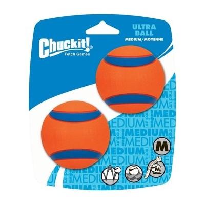Palline gomma rimbalzanti. 2 pezzi Chuckit Ultra Ball per cani