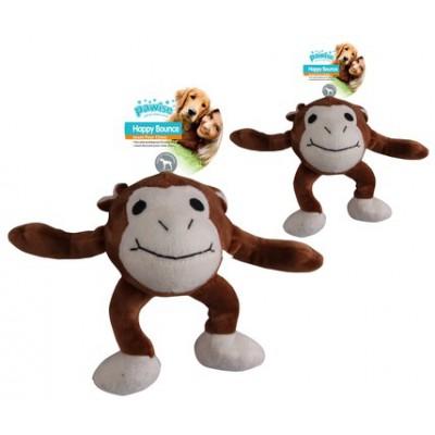Peluche con pallina rimbalzante Scimmia per cani