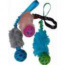 Tug pelo maniglia elastica con pallina crackle per cani