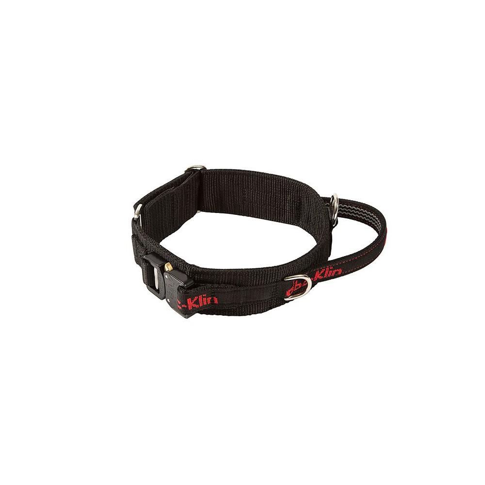 Collare con maniglia e sgancio di sicurezza. 50-60cm per cani