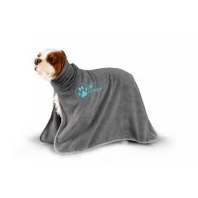 Accappatoio microfibra per cani Grigio per cani
