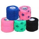 Bendaggio elastico rosa disegno zampe per cani