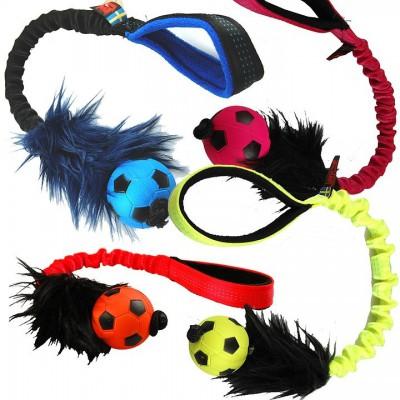 Tug pelo, palla e maniglia bungee Colori Assortiti per cani