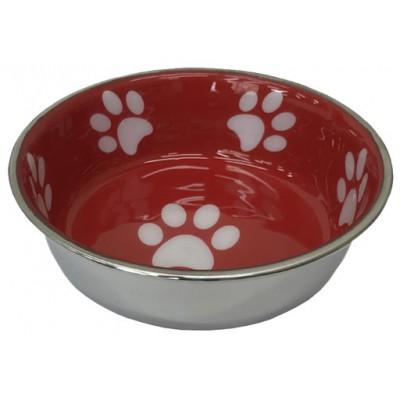 Ciotola acciaio Rossa Resistentissima per cani
