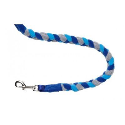 Guinzaglio treccia pile Blu 110 cm per cani