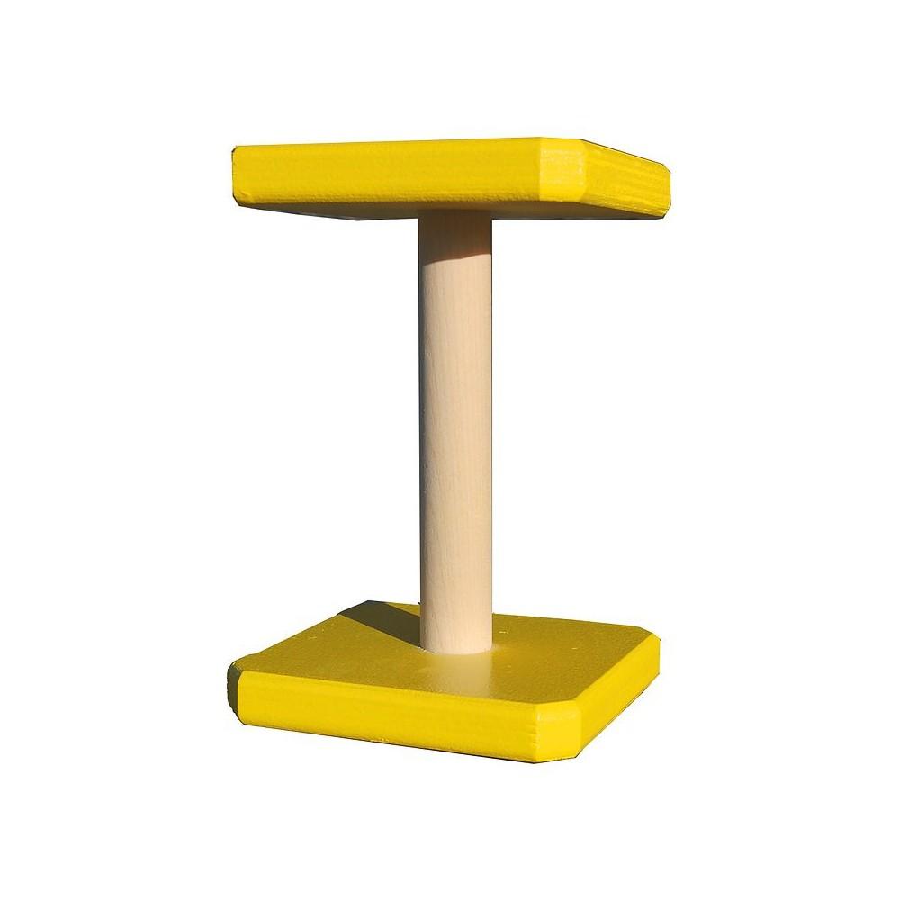 Riportello legno quadrato direttivi GIALLO Obedience