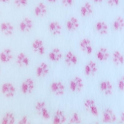 Vet Bed tappeto antiscivolo Bianco Zampe Rosa per cani