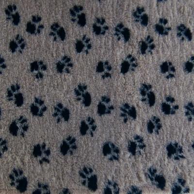Vet Bed tappeto antiscivolo Nocciola con Zampe per cani
