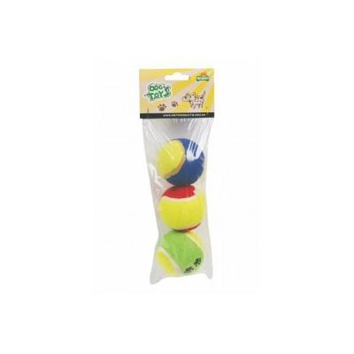 Pallina tennis - Confezione da 3 pezzi - 6 cm per cani