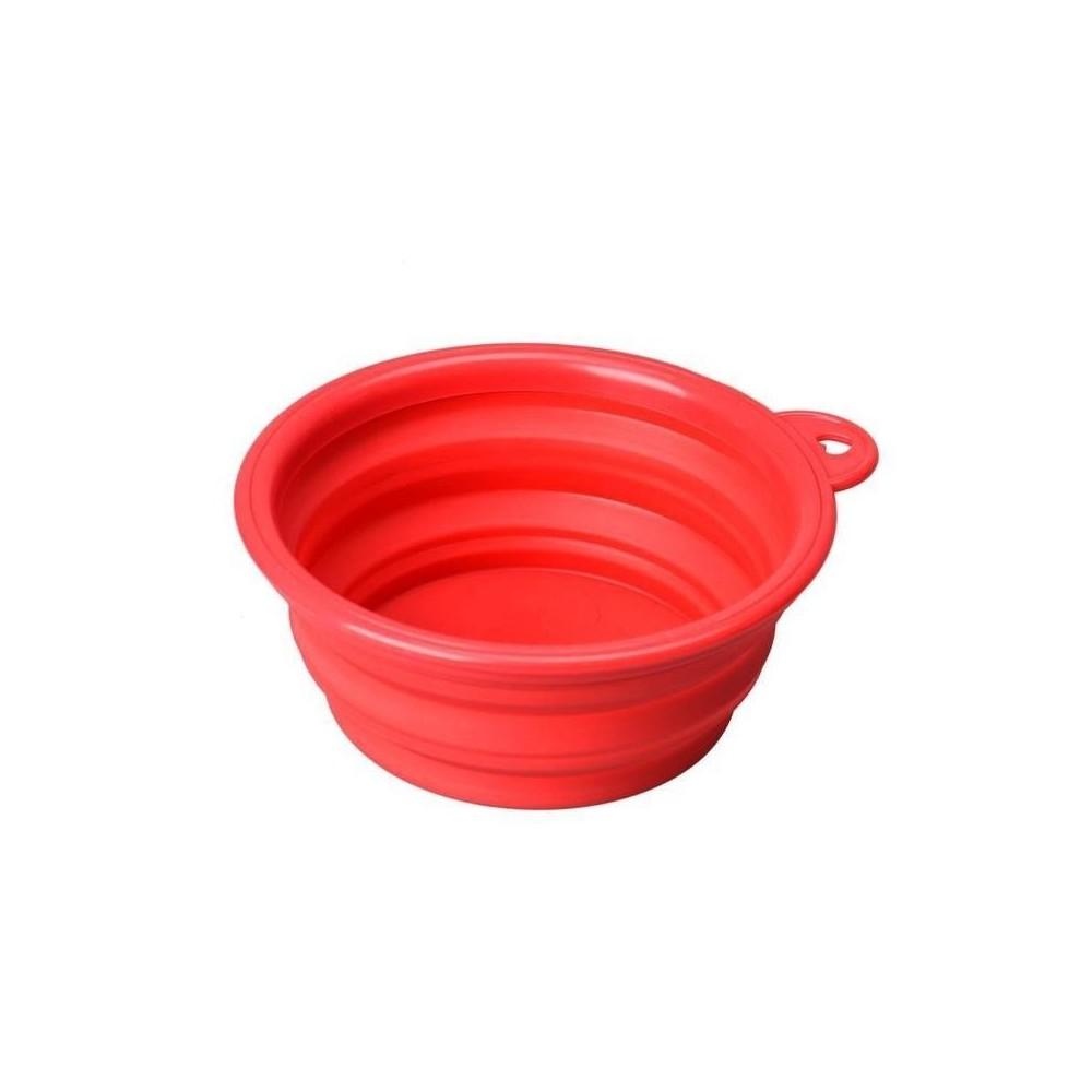 Ciotola silicone richiudibile 14 cm. - 500 Ml Rossa per cani