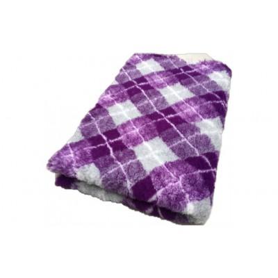 Vet Bed tappeto antiscivolo Scozzese Viola per cani