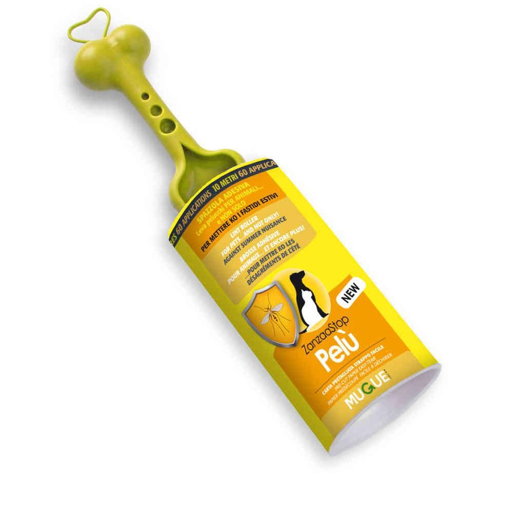 Spazzola adesiva Pelù ZanzaaStop utilizzabile sul vostro amico a 4 zampe per cani