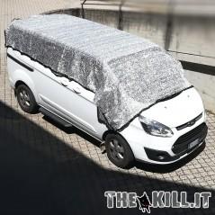 Telo auto riflettente alluminio 4 x 4 mt per cani