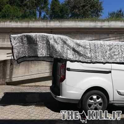 Telo auto riflettente alluminio 3 x 3 mt