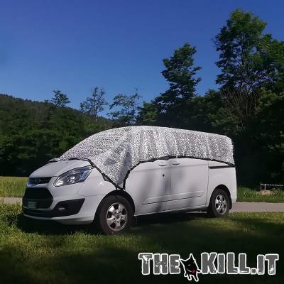Telo auto riflettente alluminio 3 x 3 mt per cani