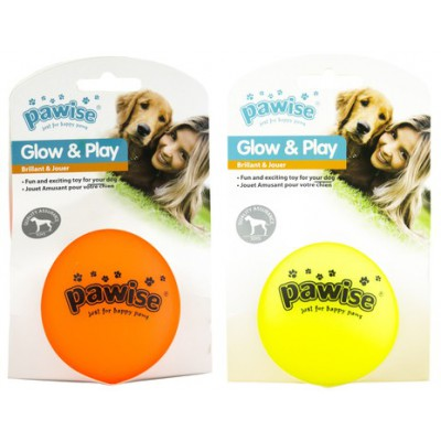 Pallina FLUORESCENTE Pawise per cani
