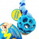 Treccia pile con pallina retata 9 cm per cani
