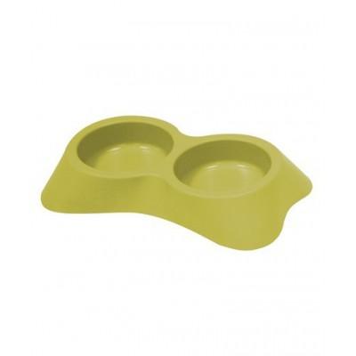 Ciotola Candy Doppia Verde Plastica